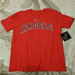 Kids LA Angels Mike Trout Baseball T-Shirt, 10/12